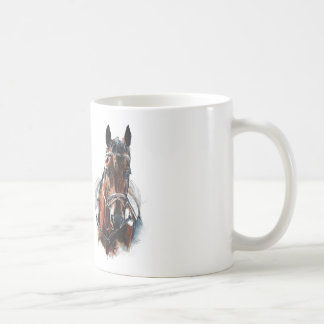 trotting horse art. Customize me. Coffee Mug