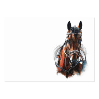 trotting horse art. Customize me. Pack Of Chubby Business Cards