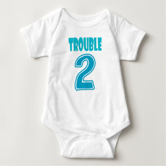Trouble 2 twin romper baby bodysuit