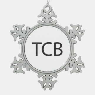 Trouble Came Back -or- Taking Care of Business.ai Pewter Snowflake Decoration