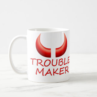 Trouble Maker & Devil Horns Large Coffee Mug
