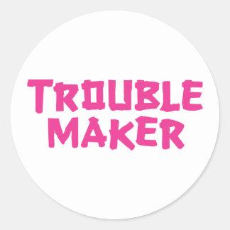 Trouble Maker Round Sticker