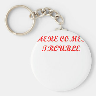 TROUBLE.png Key Chain