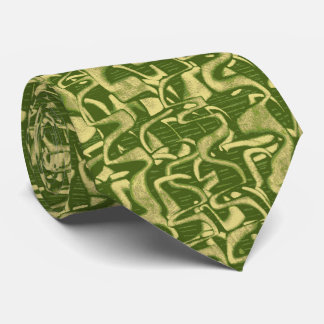 Trouble Retro Abstract Two-sided Tie