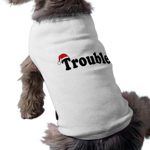 Trouble Santa Hat Doggie Tee