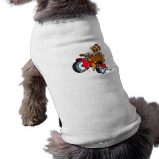 Trouble Turkey Sleeveless Dog Shirt