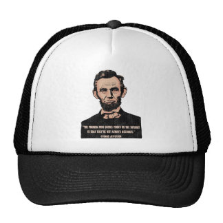 Trouble With Quotes Trucker Hats