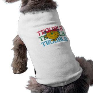 Trouble x3 sleeveless dog shirt