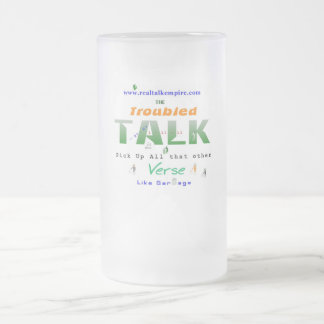 troubled - glass frosted glass mug