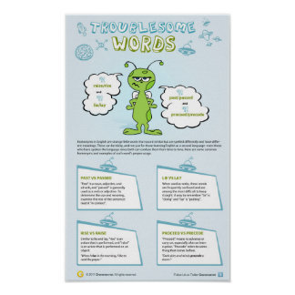 Troublesome words poster