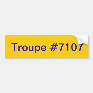 Troupe 7107 Bumper Sticker