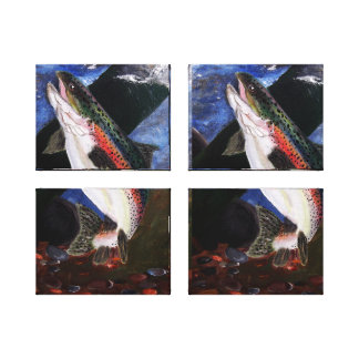 Trout Bedding Canvas Panels Gallery Wrapped Canvas