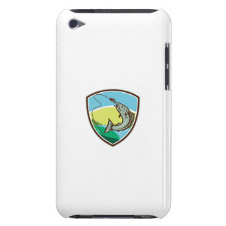 Trout Biting Hook Lure Shield Retro Case-Mate iPod Touch Case