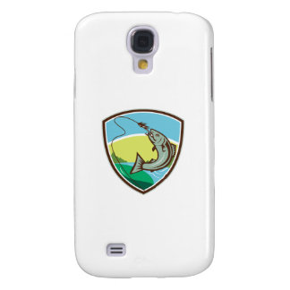 Trout Biting Hook Lure Shield Retro Galaxy S4 Cases