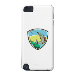 Trout Biting Hook Lure Shield Retro iPod Touch 5G Covers