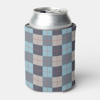 Trout Blue Gray Cotton Seed Orange Red Pattern Can Cooler