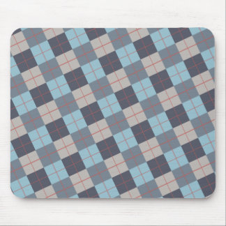 Trout Blue Gray Cotton Seed Orange Red Pattern Mouse Pad