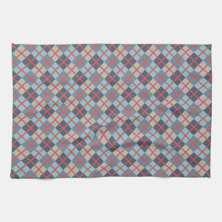 Trout Blue Gray Cotton Seed Orange Red Pattern Tea Towel