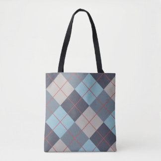 Trout Blue Gray Cotton Seed Orange Red Pattern Tote Bag