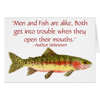 Trout Card with Funny Saying