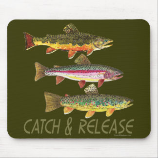 Trout Catch and Release Mouse Pad