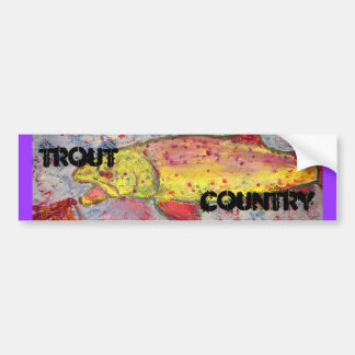 trout country art bumper stickers
