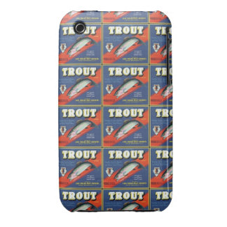 Trout Crate Label iPhone 3 Covers