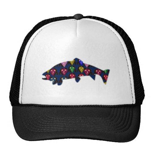 TROUT fish fishing swim aquatic NavinJOSHI NVN60 F Trucker Hats