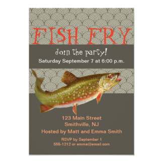 Trout Fish Party Invitation Customizable Template