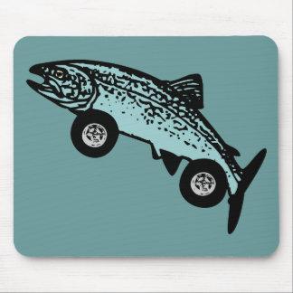 Trout Fish Race Car Mouse Pad