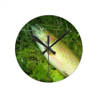 trout  fisherman's clock