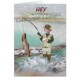 Trout Fishing Card