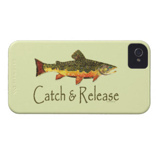 Trout Fishing Catch and Release iPhone 4 Cases