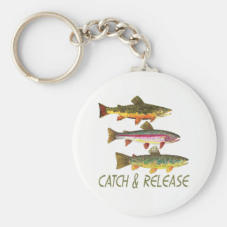 Trout Fishing Catch and Release Key Ring