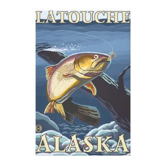 Trout Fishing Cross-Section - Latouche, Alaska Canvas Prints