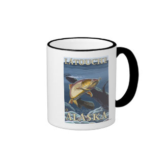 Trout Fishing Cross-Section - Latouche Alaska Mugs