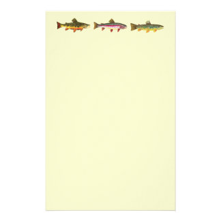Trout Fishing Stationery