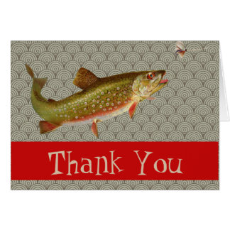 Trout Fishing Thank You Card Template Custom