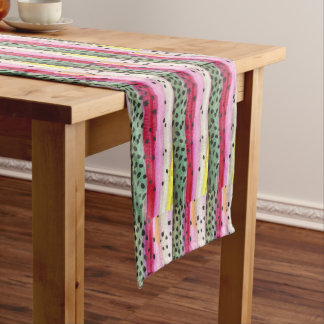 """Trout Fishing Woman 108"""" x 16 Long Table Runner"""