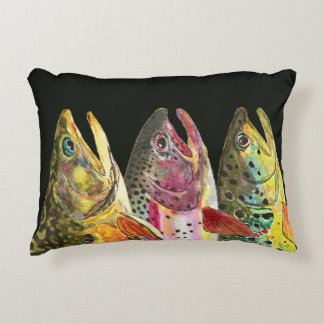 Trout Fly Fishing Decorative Cushion