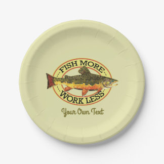 Trout Fly Fishing Party Paper Plate