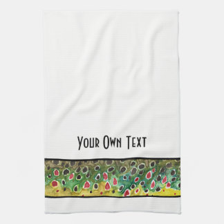 Trout Fly Fishing Tea Towel