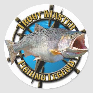 Trout Master Classic Round Sticker