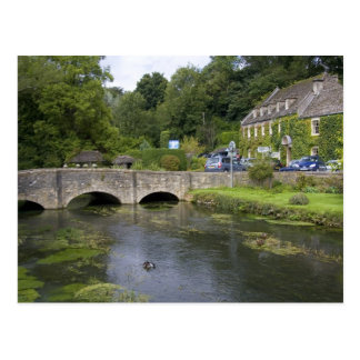 Trout stream in the village of Bibury, Postcard