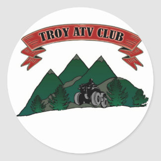 Troy ATV Logo Classic Round Sticker