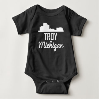 Troy Michigan Skyline Baby Bodysuit