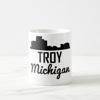 Troy Michigan Skyline Coffee Mug