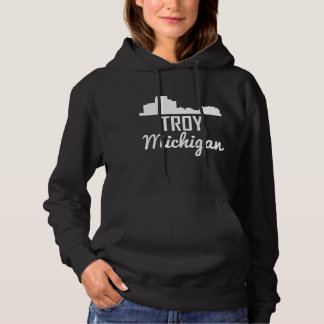 Troy Michigan Skyline Hoodie