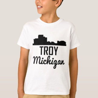 Troy Michigan Skyline T-Shirt
