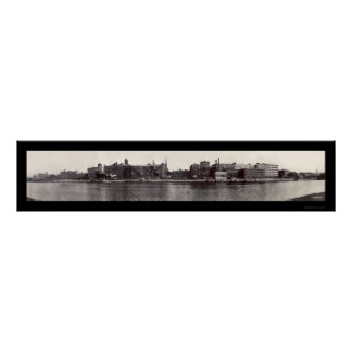Troy NY Waterfront Photo 1909 Poster